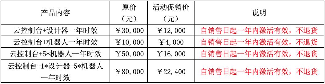 艺赛旗 2019 年双十一促销方案说明