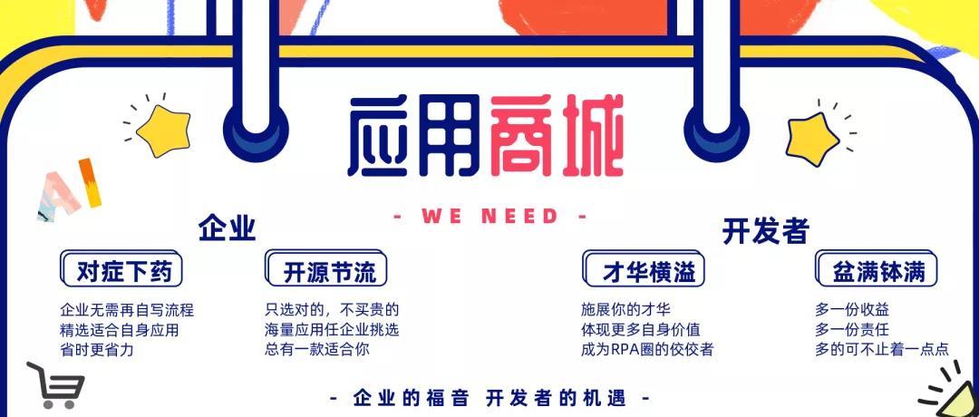 艺赛旗 RPA 应用机器人商城特点介绍三:应用商城篇