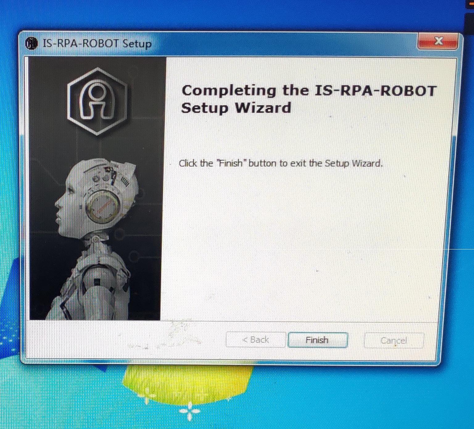 32 位 windows7 SP1 系统安装 9.0 机器人结束后没有机器人图标,设计器执行文件目录也没有机器人执行文件